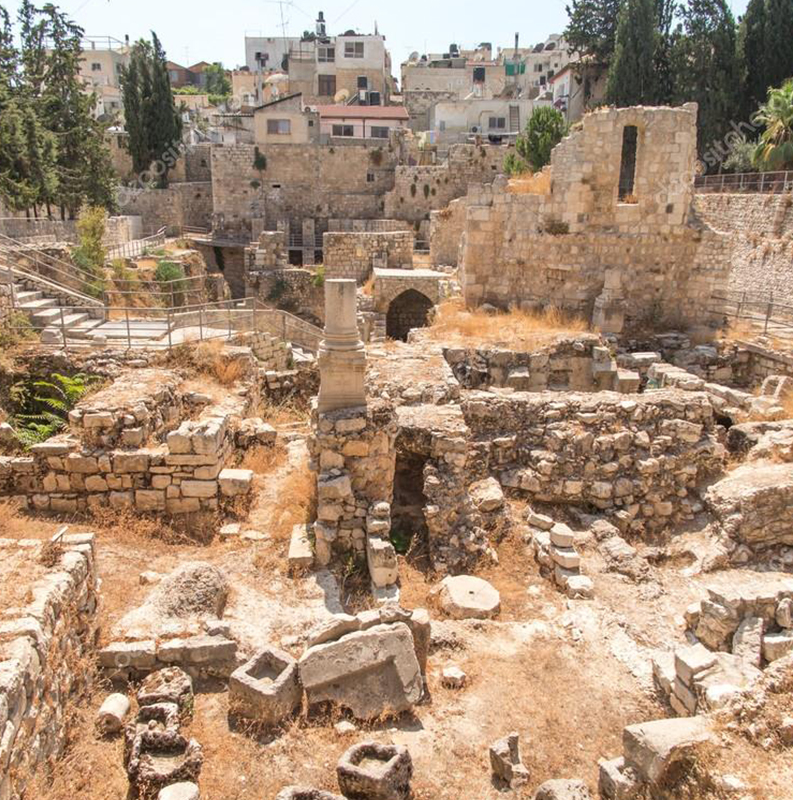 JERUSALÉM / PISCINA DE BETHESDA / FORTALEZA DE ANTONIA / PORTA DE DAMASCO / TANQUE DE SILOE