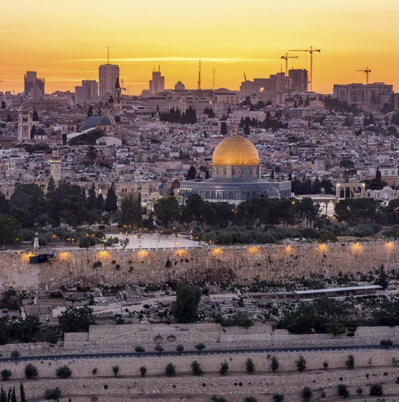 JERUSALÉM / JARDIM DO TUMULO E SANTA CEIA / MUSEU DO HOLOCAUSTO / MUSEU DE ISRAEL / MAQUETE DE JERUSALÉM / SANTUÁRIO DO LIVRO