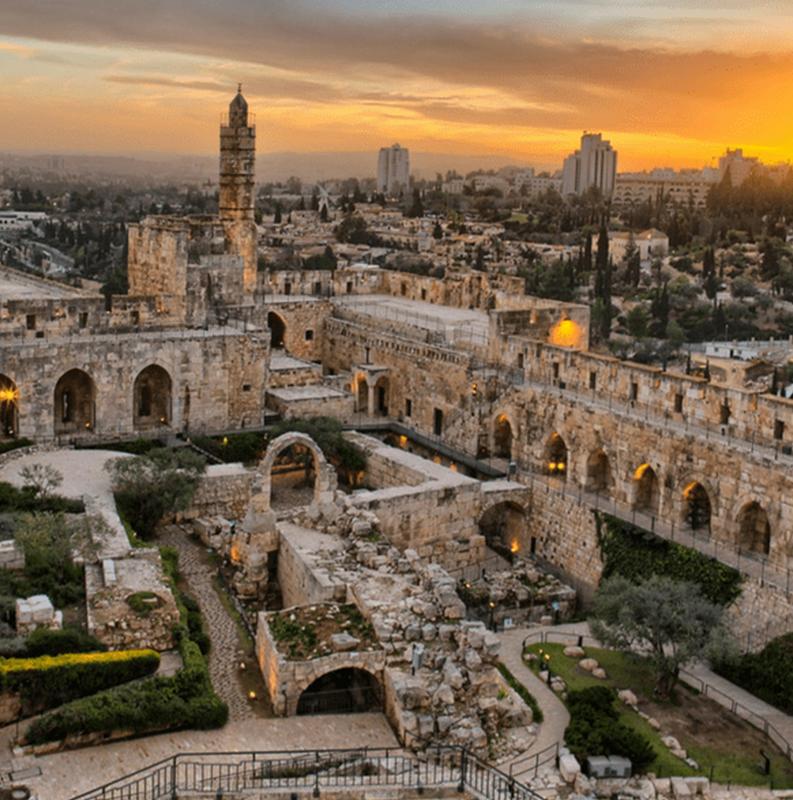 Jerusalém/Monte Sião/Cenáculo/Bairro judeu/Muro das Lamentações/ Cidade de David /Museu do Holocausto/Museu Amigos de Sião