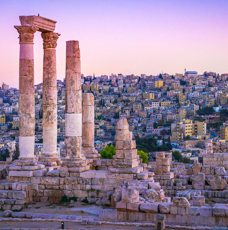 Amã - Madaba - Monte Nebo - Jerusalém