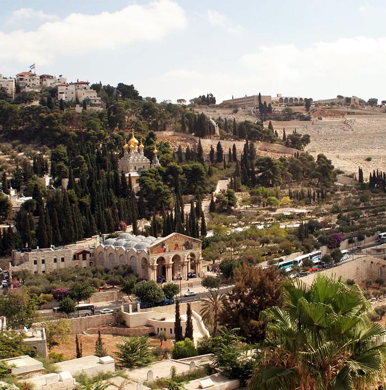 JERUSALÉM / MONTE DAS OLIVEIRAS / PISCINA DE BETHESDA / TÚNEL DE EZEQUIAS / CASA DE OBEDE EDOM.